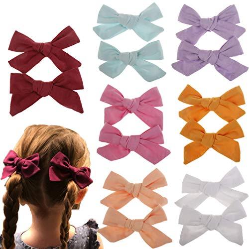 (Baby Girl Hair Bow Set Bling Sparkle Glitter Bows Alligator Hair Clips for Toddlers Kids (Multicoloured MQMQ46) )
