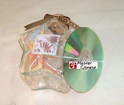 MasterChinese 30 Fl. Oz (900ML) Large Origami Star Glass Jar with Cork Lid (Star)