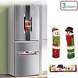 Christmas Decorations Set of 3 Kitchen Santa Claus/Snowman Handle Covers - Best Xmas Decoration Idea