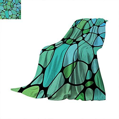 Super Foam Mosaic - Anhuthree Seafoam Super Soft Lightweight Blanket Mosaic Geometric Pattern Vintage Inspirations Abstract Composition Summer Quilt Comforter 60