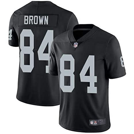 3d448edb668 Mitchell & Ness Oakland Raiders #84 Antonio Brown Men's Limited White  Stitch Jersey (Black