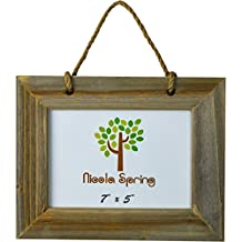 Nicola Spring Wooden Hanging Photo Picture Frame - 7 x 5""