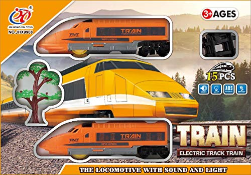 Tector Electric Track Train Set, 15 Pieces