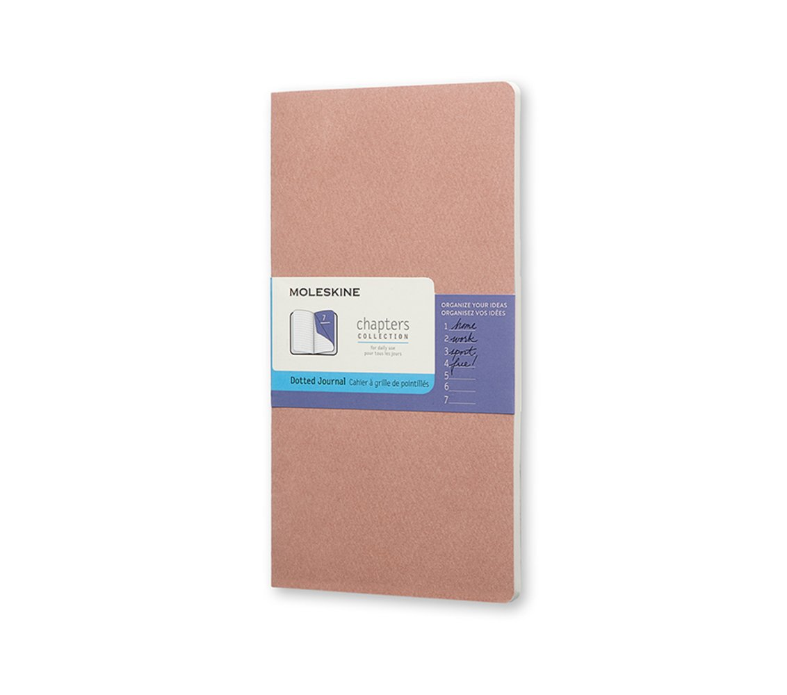 Moleskine Chapters Journal, Slim Large, Dotted, Old Rose,...