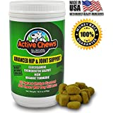 Active Chews Premium Hip and Joint Dog Treats by Glucosamine for Dogs, Chondroitin MSM and Turmeric for Dogs - Extra Strength Supplement with Arthritis Pain Relief for Dogs