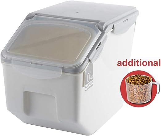 Baffect Envase de Comida, Caja de Almacenamiento para alimentación Animal, Comida para Perros Alimento para Gatos Envase para alimentación de Comida Seca Hermético, pequeño 4-6 kg, Gris: Amazon.es: Productos para mascotas