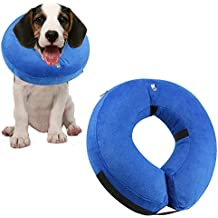 "ONSON Protective Inflatable Dogs Collar, Soft Pet Recovery E-Collar for Small Medium Large Dogs and Cats, Designed to Prevent Pets From Touching Stitches (Medium: Neck Circumference 8""-12"")"