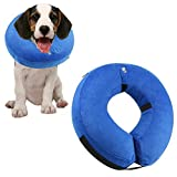 ONSON Protective Inflatable Dog Collar, Soft Pet Recovery E-Collar Cone for Small Medium Large Dogs, Designed to Prevent Pets From Touching Stitches, Wounds and Rashes, Does Not Block Vision, Medium