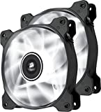 Corsair Air Series SP 120 LED White High Static Pressure Fan Cooling - twin pack