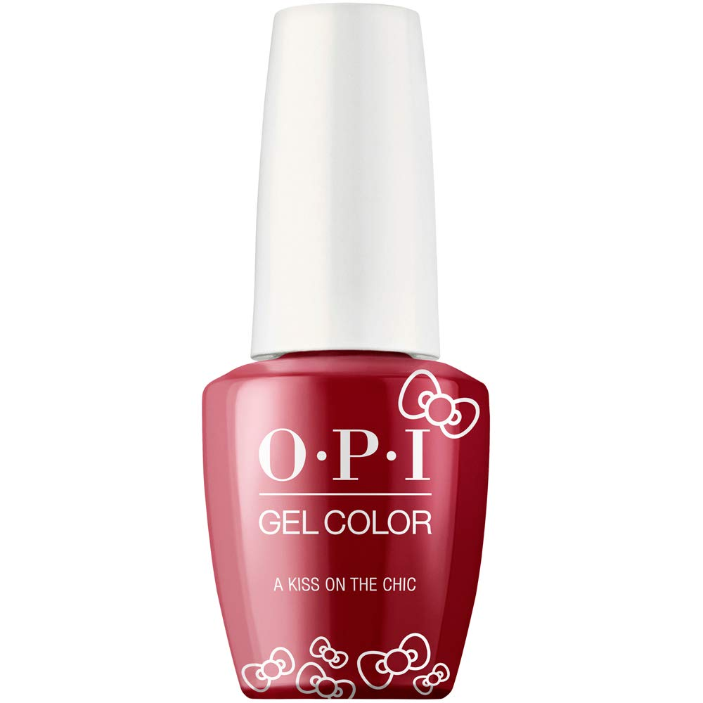 Hello Kitty by OPI Collection, Gel Color, A Kiss on the Chìc
