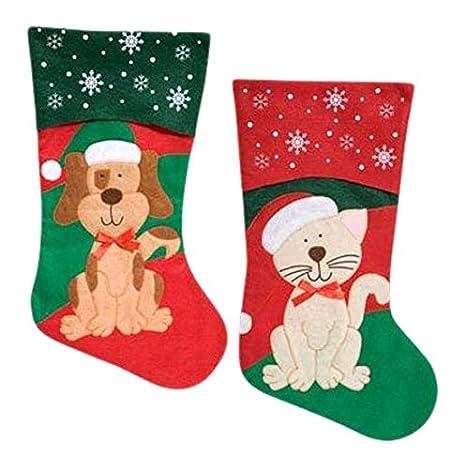 amazoncom pets christmas stocking dog or cat your choice dog home kitchen - Dog Stockings For Christmas