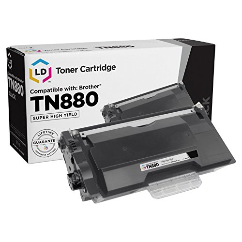 LD Compatible Toner Cartridge Replacement for Brother TN880 Super High Yield (Black)