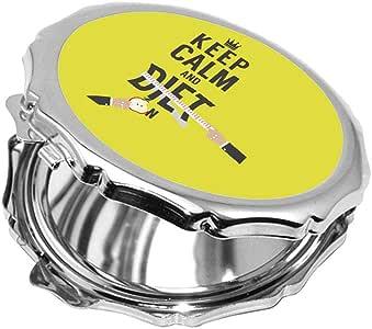 مرآة جيب، keep kalm & diet بطبعة ، شكل دائري