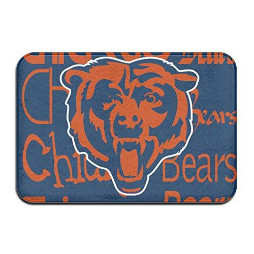Weckim Chicago Bears Non-Skid Lock Water Quick-Drying Door Mat Floor Mat, Fadeless, 15.75