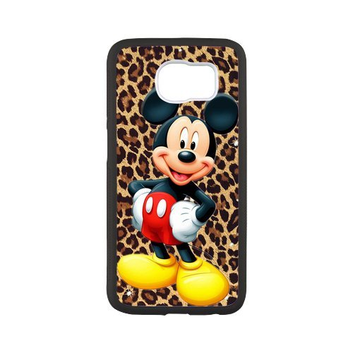 Fayruz- Personalized Protective Hard Textured Rubber Coated Case Cover for Samsung Galaxy S6 - Mickey Mouse Cartoon -S6O1079