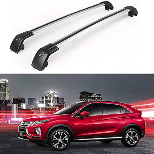 MotorFansClub Roof Rack Crossbars Fit for Mitsubishi Eclipse Cross 2018 2019 Lockable Baggage Luggage Racks Rail (Rack Eclipse Mitsubishi Roof)