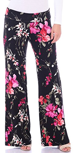 Popana Womens Comfy Chic Wide Leg Boho Print Palazzo Pants Plus Size Made in USA 3X ST98 Paisley