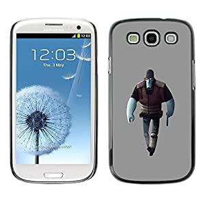A-type Colorful Printed Hard Protective Back Case Cover Shell Skin for SAMSUNG Galaxy S3 III / i9300 / i747 ( Blue Man Game Character Alien Art 3D Figure )