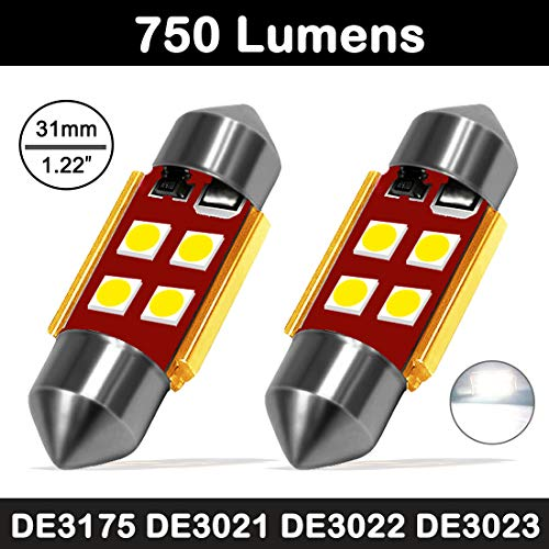 Boaton DE3175 LED Lights CANBUS Error Free 31mm(1.22inch) Festoon led bulbs Extremely Bright 3030 Chipset for Car Interior Dome Map Trunk Door Courtesy License Plate Lights DE3021 DE3022 Xenon White