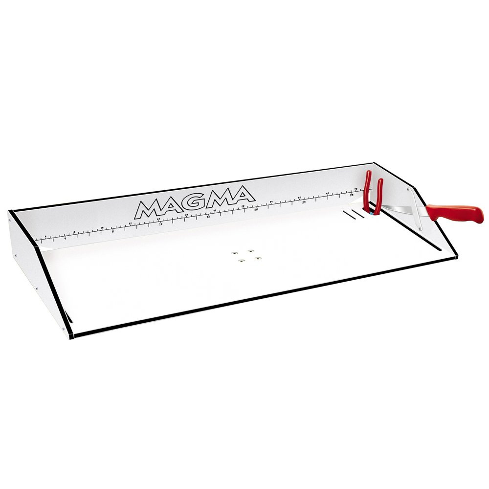 MAGMA Magma Bait/Filet Mate Serving/Cutting Table - 31'' - White/Black / T10-303B /