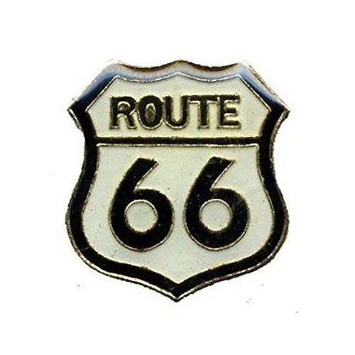 (Route 66 Lapel Pin Hat Tie Tac Brass CHN)