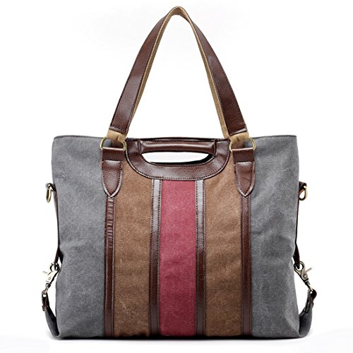 UNYU Bag Large For Ladies Stylish Matching Easy Hobo Canvas Tote Bags Grey Shopping and Shoulder Travel rEvqrfx