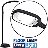 Floor Standing Daylight LED Reading Hobby Work Craft SAD Standard Lamp Light New (Black)