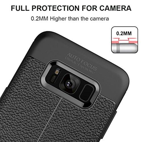 """Samsung Galaxy S8 (5.8"""") Hülle, MSVII® Anti-Shock Weich TPU Silikon Hülle Schutzhülle Case Und Displayschutzfolie für Samsung Galaxy S8 (5.8"""") - Schwarz JY90029"""