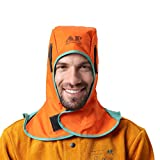 AP-6671 Orange FR Welding Hood with Neck Shoulder Drape