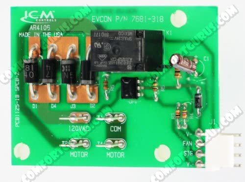 # S1-7681-318P//A Coleman Source 1 Evcon Blend Air Upper Control Board with Wiring Adapter