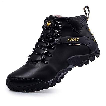 GHCX Stivali Scarpe da Uomo Martin Stivali Invernali in Pelle da Trekking  in Velluto Invernale Plus 8e99101b90b