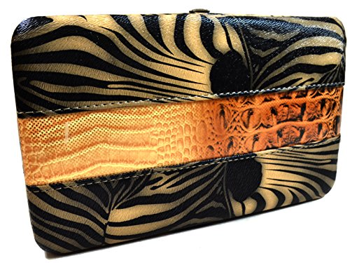 A+ Dual Animal Print Hardcase Wallet w/ Multi-Slot Feature: (Animal Print Wallet)