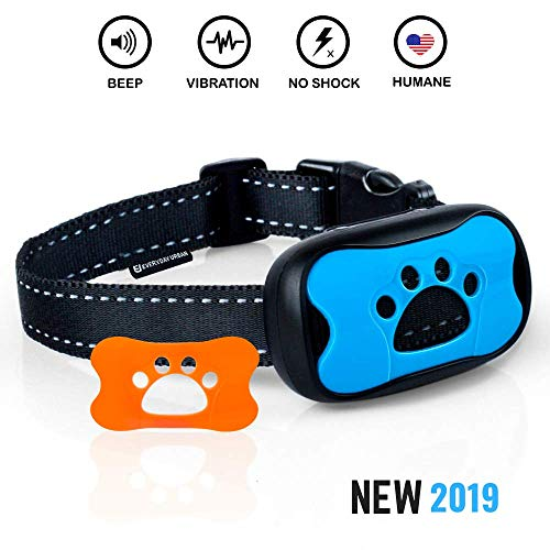 - Dog Bark Collar - Stop Dogs Barking Fast! Safe Anti Barking Devices Training Control Collars, Small, Medium and Large pets deterrent. No shock, remote or citronella. Sound, vibration training device