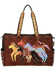 Laurel Burch Travel Bag Zipper Top 20.5X8.25X16-Native Horses