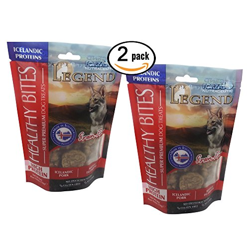2 Pack High Protein Grain Free Icelandic Pork Premium Legend Dog Treats  Great For Sensitive Stomachs 6 Oz Each Bag