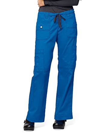 bb0aff4512 Image Unavailable. Image not available for. Color: Dickies Gen Flex Women's  Youtility Drawstring Elastic Waist Scrub Pant Xx-Large Tall Royal