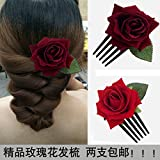 Best GENERIC Green Leaves - High-grade red roses green leaf comb plate hair Review