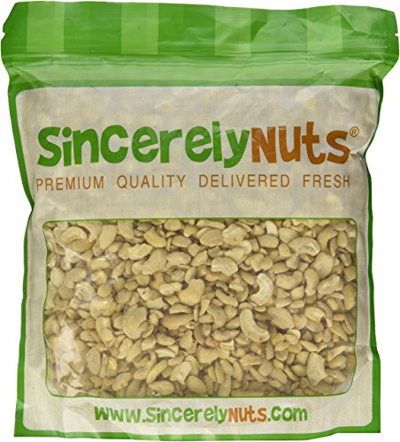 Sincerely Nuts Raw Cashew Pieces Unsalted- Three (3) Lb. Bag - Sensationally Scrumptious - Total Freshness - Filled
