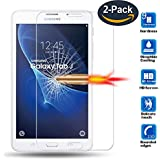 for Samsung Galaxy Tab J 7.0 Tempered Glass Premium Screen Protector Guard 9H HD Anti Fingerprint and Scratch 99% Light Transmission Perfect Touch (2-Pack)