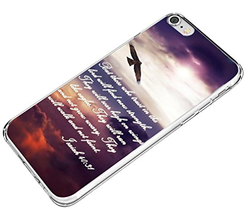 Hungo Iphone 8 Case,Iphone 7 Case Bible Verses, Apple Iphone 8 Cover Iphone 7 Cover Christian Quotes Sayings Isaiah 40:31