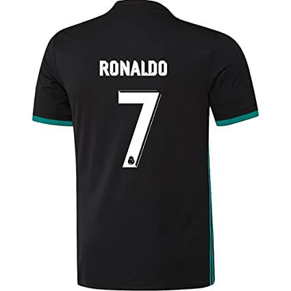 Marex Black Half Sleeves Football Soccer T-Shirt with Ronaldo Written at  Back ( 9d1ab08d6