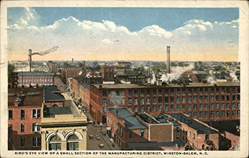 Birds Eye View Of A Small Section Of Financial District Winston Salem  North Carolina Original Vintage Postcard