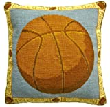 Deluxe Pillows Basket Ball - 16 x 16 inces needlepoint pillow