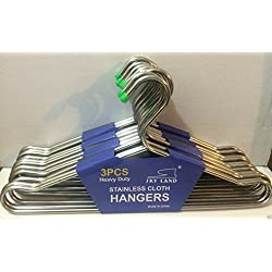 """12 PCS 16"""" Large Heavy Duty Stainless Steel Clothes Coat Jacket Hangers"""