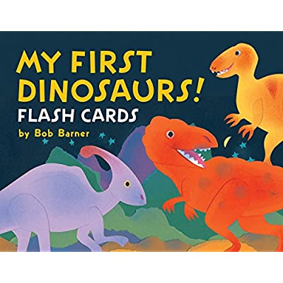 Chronicle Books My First Dinosaurs! Flash Cards (Dinosaur Flashcards for Kids 3-6, Dinosaur Learning Cards for Preschoolers & Kindergarteners): Barner, Bob: Toys & Games