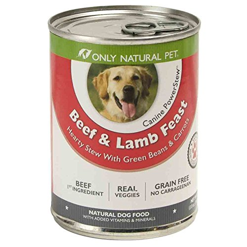 Only Natural Pet PowerStew Grain-Free, Premium Wet Canned Dog Food, Beef & Lamb Feast 13 oz Cans (Case of 12)