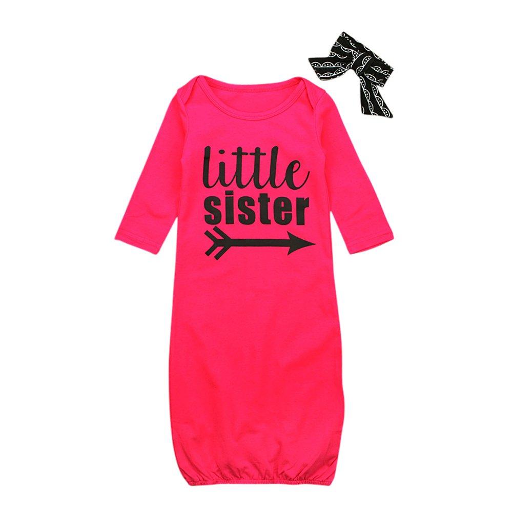 EITC新生児スリープバッグ+頭飾り女の子長袖ブラック英語レッドローズ印刷パジャマ高さ45 – 65 cmの赤ちゃん B076SLRRPY