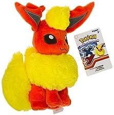 "Flareon ~8.25"" Mini-Plush: Pokemon Evolution of Eevee Series"