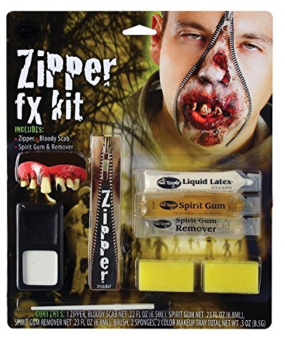 Zombie Zipper Effect Facial Special Effect Halloween Fancy Dress Accessory Kit (Special Effects For Halloween Uk)