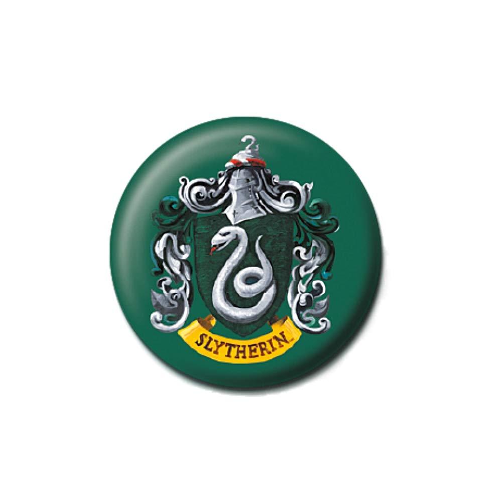 Pritties Accessories Bouton Insigne /épingle de Blason de Maison embl/ématique de la Maison Serpentard de Warner Bros Poudlard